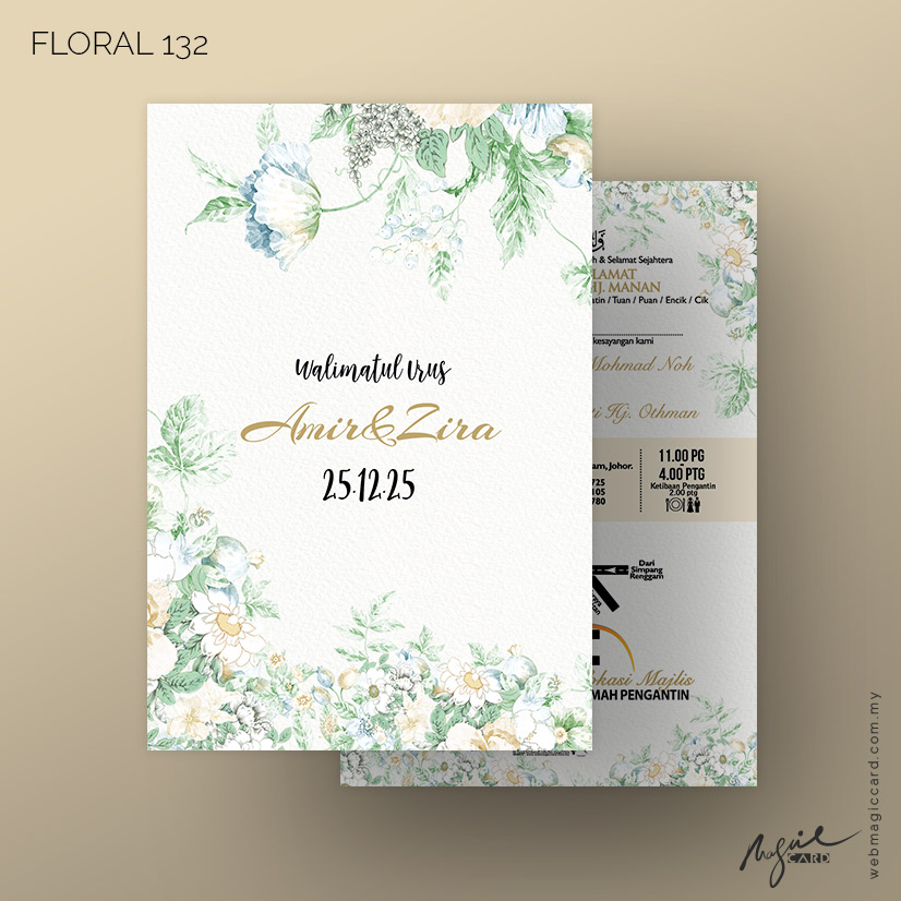 Kad Kahwin by Magic Card - Floral 132