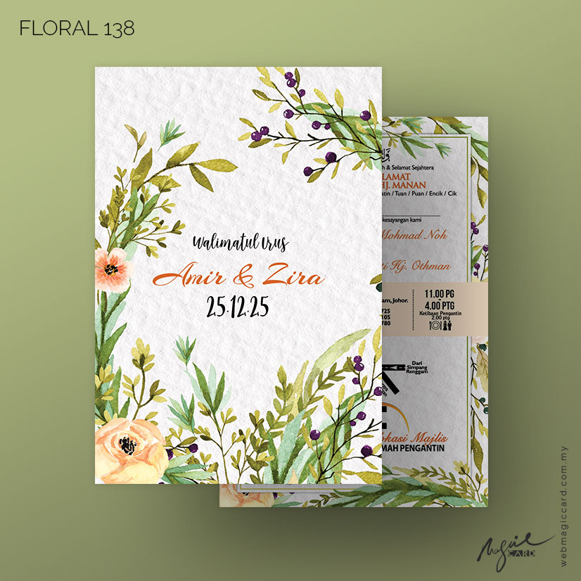Kad Kahwin by Magic Card - Floral 138